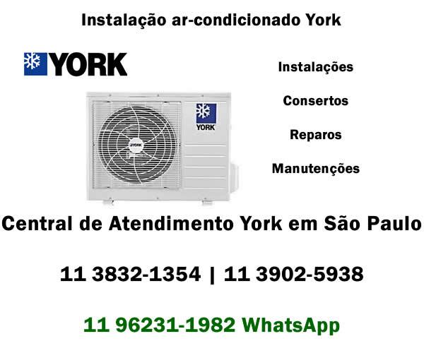 Instalação ar-condicionado York