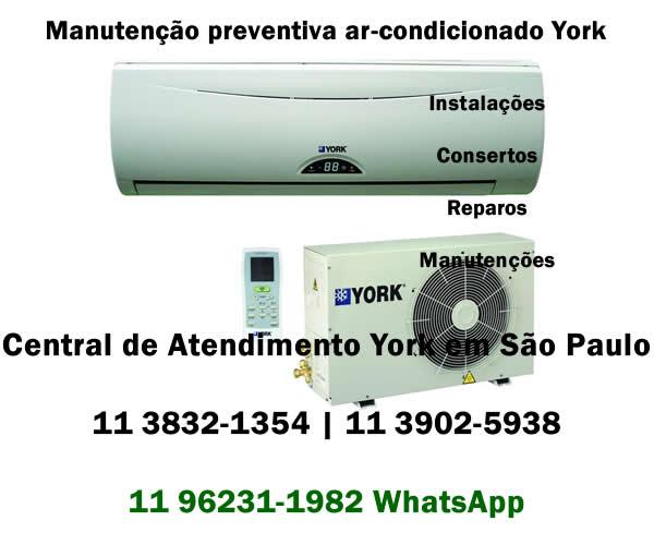 Manutenção preventiva ar-condicionado York