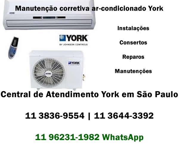 manutenção corretiva ar-condicionado York