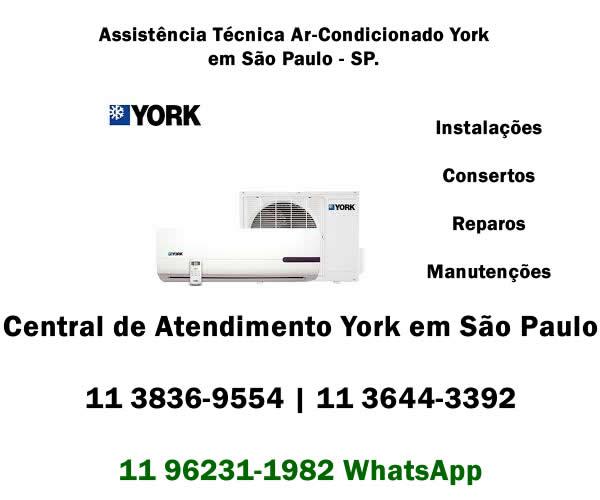 assistência técnica ar-condicionado York em São Paulo